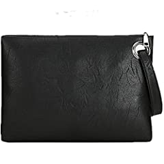 ◆ ◆Product Material : Adopts high quality faux leather and polyester, high-class, chic and durable.  With a build-in wristlet strap, can be used as not only an evening party bag, but also a ladies everyday purse. Lined interior features zippe...