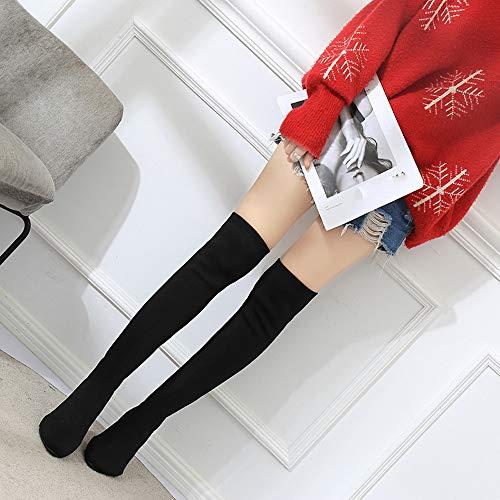 Chaussettes Pour Sur Genou Chic Femmes Élastiques Noir Nouveau Warm Keep Chaussure Le 2018 Vouchers Pointues Femme Coupon Automne Martin Hiver n7fBRfq
