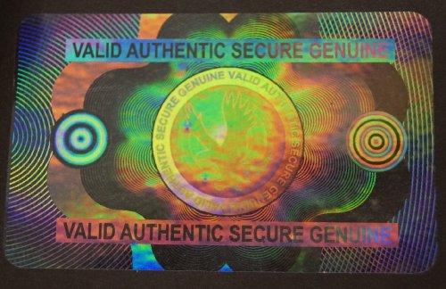 10 Hologram Secure Eagle Self Stick ID Overlays, Thin .05 Mil