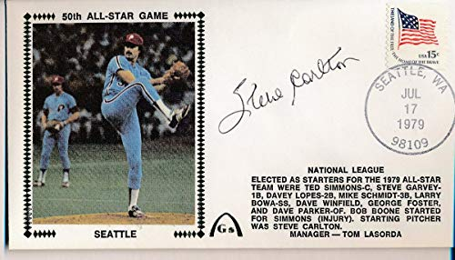 - Steve Carlton Phillies Signed 1979 All Star Game First Day Cover Envelope 140881