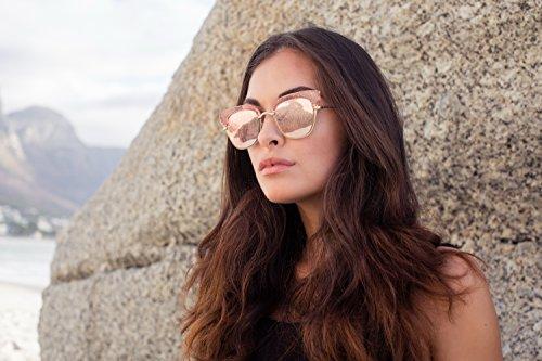 de Metálicas Cheapass Lentes Espejadas Gold4 Gafas UV400 Sol 5xWwqBnWUY