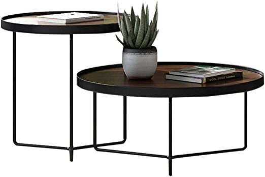 2 Juegos de Nido de mesas Muebles de Sala de Madera Sofá Mesa de ...