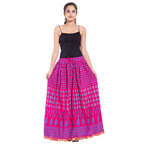 Cotton Maxi Skirt For Women Pink Free
