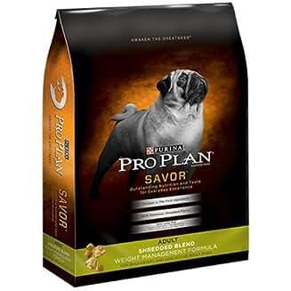 Purina Pro Plan Savor Adult Shredded Blend Weight Management Formula Dog Food (our Best Low Fat Dog Food)