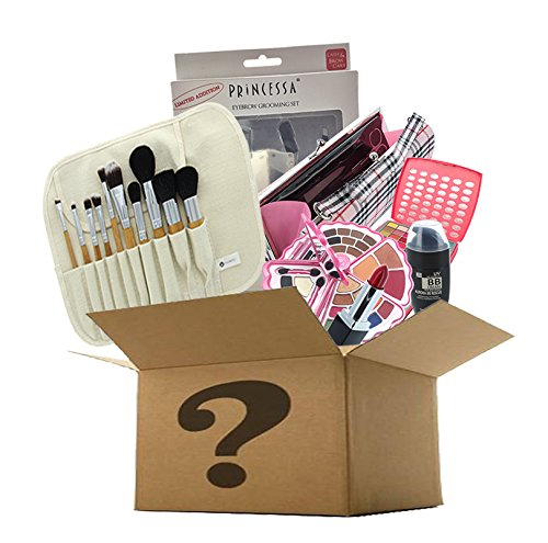 BR Makeup Surprise Mystery Box Gift Set – Exclusive All in One Makeup Set – Include Pro Makeup Brush Set, Eyeshadow Palette, Makeup Set, Lip Stick and Much More – COLORS VARIES (Medium, Artistic)