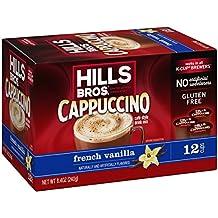Hills Bros French Vanilla Cappuccino, Single Serve Cups, 12 Count