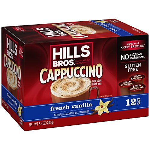Hills Bros French Vanilla Cappuccino, Single Serve Cups, 12 Count