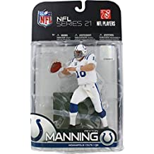 McFarlane Toys NFL Sports Picks Series 21 2009 Wave 2 Action Figure Peyton Manning (Indianapolis Colts) White Jersey Variant