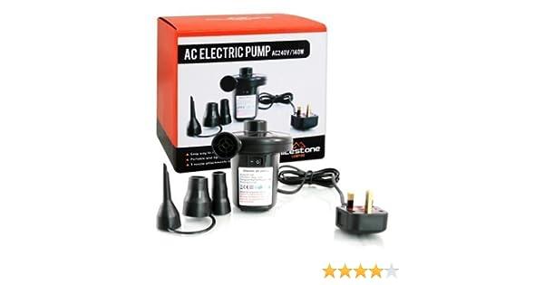 Inflador y Desinflador Eléctrico Para Colchones Inflables Camas de Aire 240v/140w Para el Hogar y Camping: Amazon.es: Deportes y aire libre