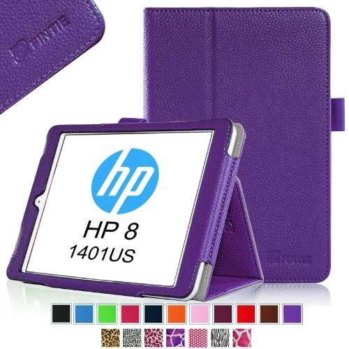 UPC 791916555134, Fintie HP 8 (Model 1401) Folio Case - Premium Vegan Leather Cover with Stylus Loop (Will Only Fit HP 8 1401US 7.85 -inch Android Tablet) - Violet