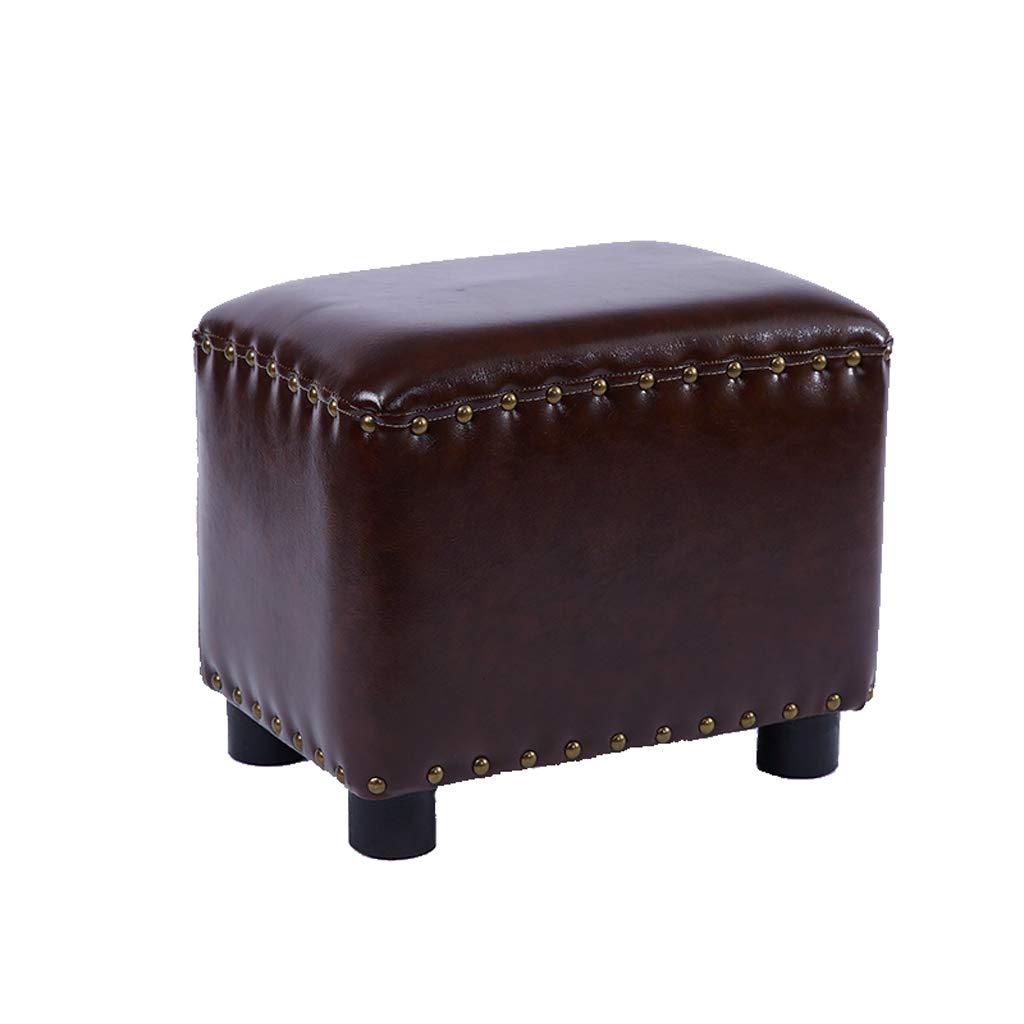 Taburete con sofá Taburete para el hogar Muelle de cuero ...