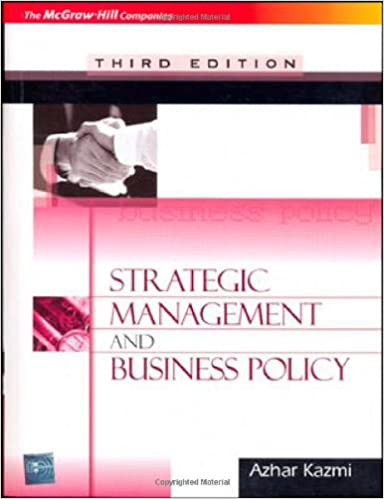 Strategic Management Book By Azhar Kazmi