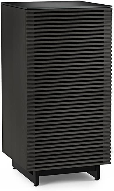 BDI Corridor Audio Tower Stereo Cabinet, Charcoal Stained Ash