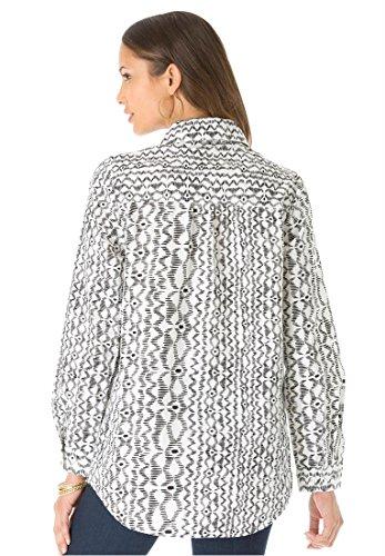 Roamans Women's Plus Size Kate Bigshirt