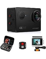 """KAMTRON Action Cam 4K Wasserdicht Aktion Kamera - 20MP Ultra Full HD WiFi Unterwasserkamera Helmkamera mit EIS 170°Weitwinkelobjektiv Sony Sensor 2""""-LCD-Touchscreen 2 wiederaufladbare Batterien"""