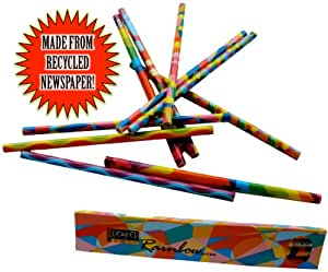 Recycled Newspaper Pencils - O'BONanza Boxed Series 10 Pack - Rainbow Themed