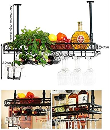 Estantería de vino Soporte de pared for la bandeja del soporte de la botella de vino Soporte for el vino Copa de vino Suspendido Soporte de la botella de vino grande Marco rústico de 'Unidad de decora