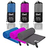 "Microfiber Beach Towel, Giwil Travel Sports Towel (XL 70"" X 35"") Ultra Absorbent and Quick Dry Towel Compact/Lightweight Swimming Towel for Backpacking, Camping, Gym, Bath"
