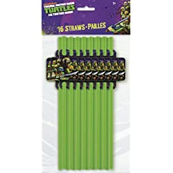 Teenage Mutant Ninja Turtles Party Straws, 16ct