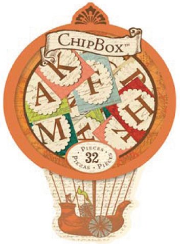 Engraved Garden Alphabet Chipbox, Hot Air Balloon 1 pcs sku# -