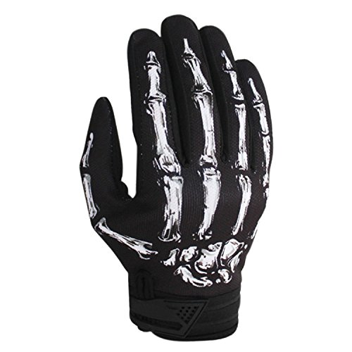 BPX Winter Gloves Cycling Motorcycle Full Finger Skeleton Ski Gloves White M