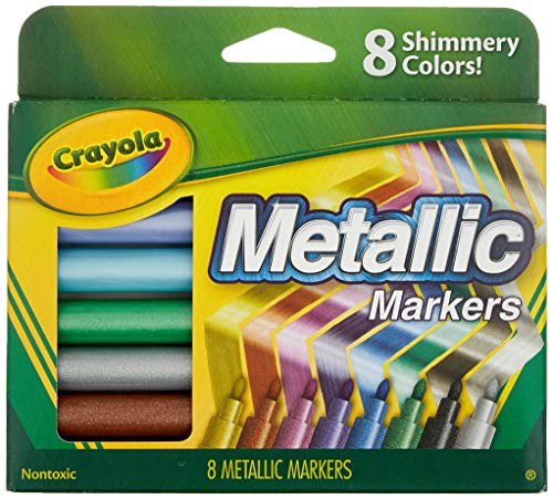 Crayola 642337910395 2 Pack Metallic Markers, 8 Count, w ()