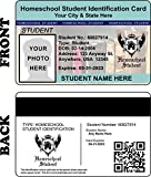 Homeschool Student ID Card - {CUSTOMIZABLE WITH PHOTO / INFO} Holographic Home School Student PVC Plastic Identification Card