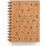 Beach Pattern Laser Cut Wood Journal (Notebook / Birthday Gift / Gratitude Journal / Handmade)