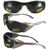 Supra Smoke Lens, Lightweight Metal Frame with Side Protection Wings