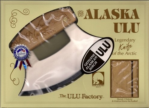 Alaskan Inupiat Style Ulu with Eagle Etched Birchwood Handle, 6.25'' Blade by The ULU Factory (Image #2)