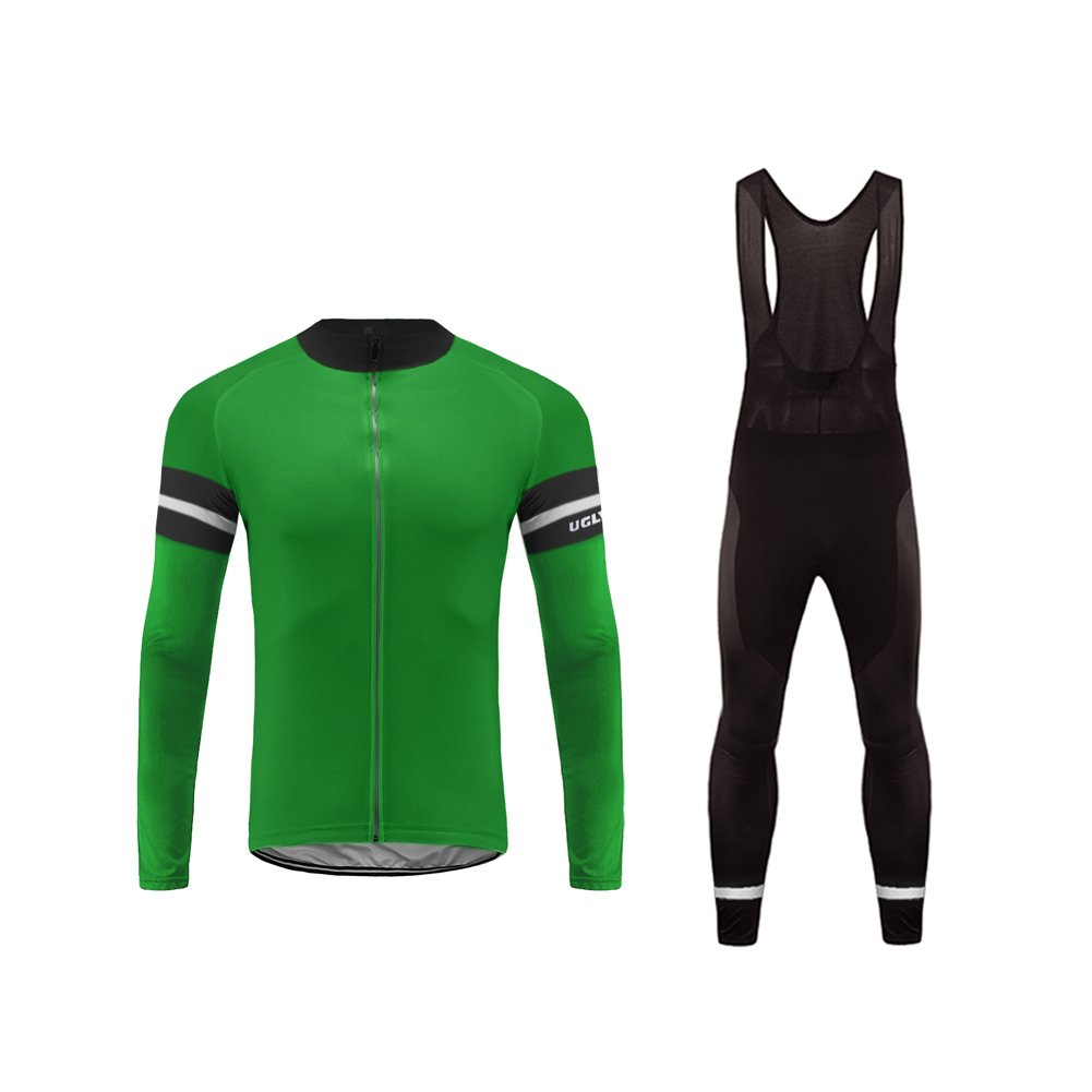 Uglyfrog  04 Neuer Radsport Anzüge Herren Winter Warm halten with Fleece Langarm-Radsport-Trikot+Lange Lätzchen Dicht with Gel Pad Breathable Classic Bicycle Set