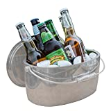 Crafthouse by Fortessa Professional Metal Barware/Bar Tools by Charles Joly, 12'' x 5.25'' Stainless Steel Ice Bucket with Handle and Drain Tray