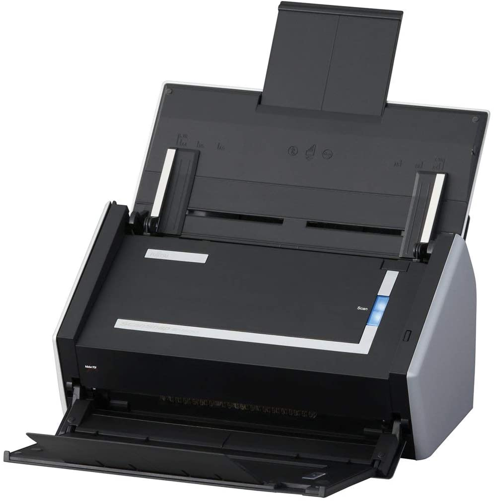 Fujitsu ScanSnap S1500 Scanner W/New Adapter, Cable, Cord, Scanned Page (Renewed)