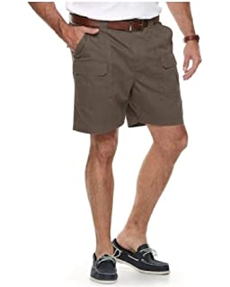 c81e1223 Croft & Barrow Side Elastic Relaxed Fit Cotton Cargo Shorts (Major Brown,  ...