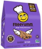 Nut Free Gluten Free Granola Bars, FreeYumm Blueberry Oat Bars, School Safe Allergen Free Snacks for Kids, Pack of 3 (5 count each pack)