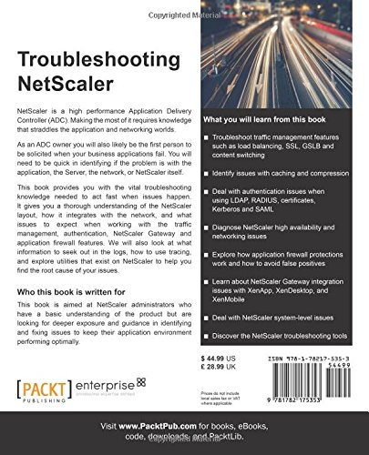 Buy Troubleshooting NetScaler Book Online at Low Prices in