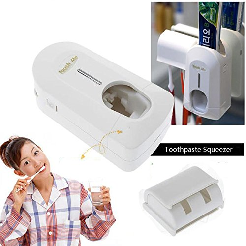 Amazon.com: Salon Toothpaste Squeezer Bathroom Storage & Organisation - Plastic Automative Toothpaste Squeezer Toothbrush Holder Bathroom Set - Dispenser ...