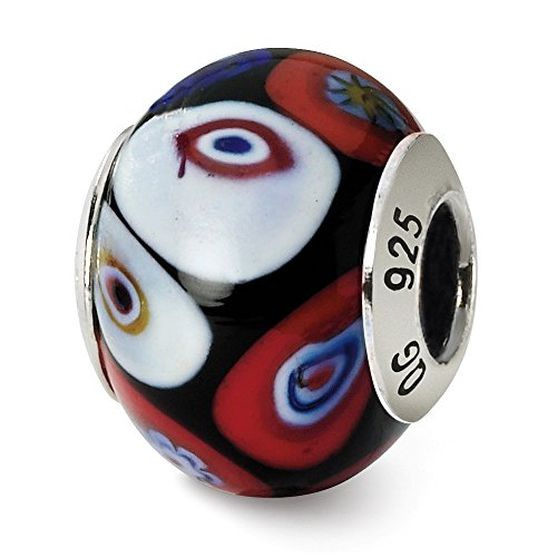 925 Sterling Silver Charm For Bracelet Multi Color Design Italian Murano Bead Glas Fine Jewelry Gifts For Women For Her