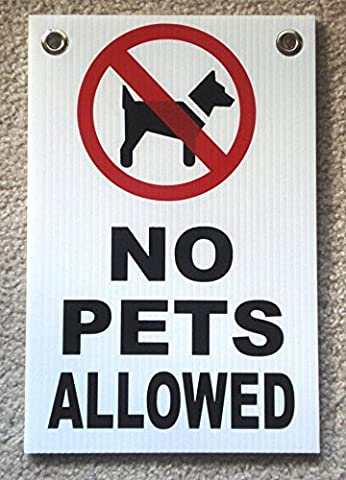 1Pc Monumental Unique No Pets Allowed Signs Yard Board Coroplast Warning Decal Area Property Notice Waste On Lawn Animals Park Pooping Please Keep of Grass Signage Dog Poop Size 8