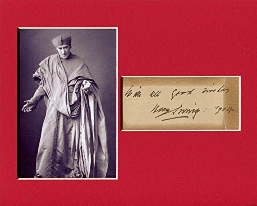 - Sir Henry Irving Victorian Era Actor Dracula Rare Signed Autograph Photo Display