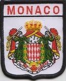 Monaco Flagge bestickt Patch Badge