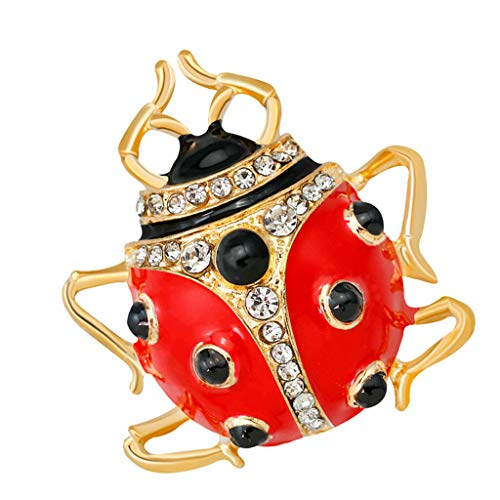 Enamel Cute Bee Brooch Pins Fashion Jewelry Wedding Party Charms Jewelry (Color - Red)]()