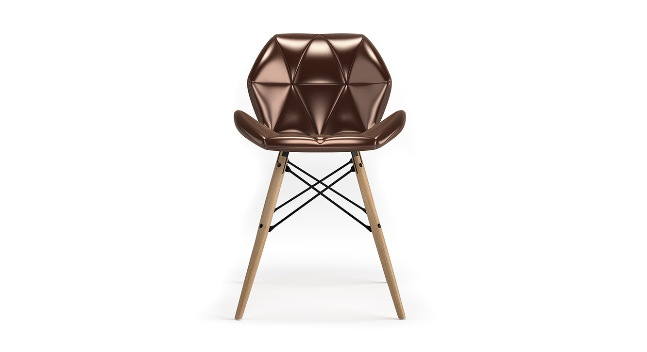 Fabulous Urban Ladder Ormond Accent Chair Colour Copper Leatherette Gmtry Best Dining Table And Chair Ideas Images Gmtryco