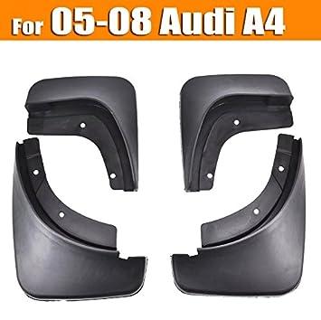 XUKEY - Juego de 4 Protectores de Salpicaduras para Audi A4 (B7) Sedan 05~08: Amazon.es: Coche y moto