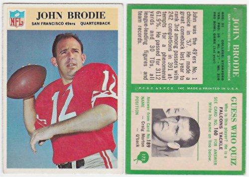 - 1966 Philadelphia John Brodie Card #173 San Francisco 49ers Stanford