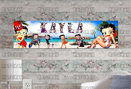 Customized Name Painting Betty Boop Poster With Your Name On It Personalized Banner (Betty Boop Pictures)