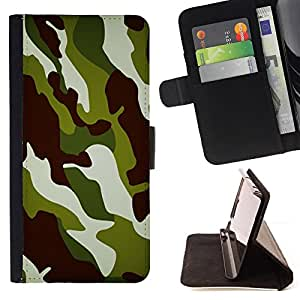 BullDog Case - FOR/HTC Desire 820 / - / Camo Camouflage Chamo Jungle Pattern /- Monedero de cuero de la PU Llevar cubierta de la caja con el ID Credit Card Slots Flip funda de cuer
