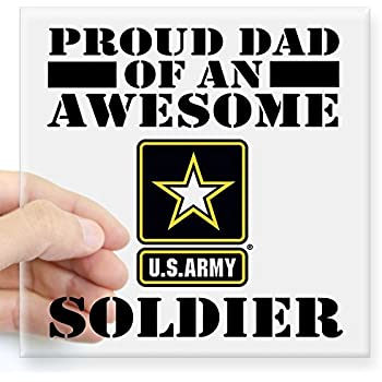 Cafepress proud u s army dad square sticker 3 x 3 square bumper sticker