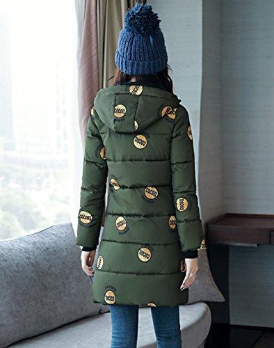 Cappuccio Da Donna Comvip Verde Imbottito Militare Con Giacca Cappotto Parka Invernale In Cotone Iwtw8xf6qa