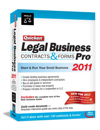 Nolo Press Quicken Legal Business Pro 2011 [Old Version]
